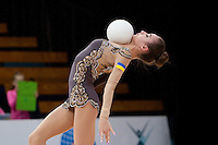"February 12, 2016 - Tartu, Estonia - VIKTORIA MAZUR of Ukraine wins bronze in the All-Around at ""Miss Valentine"" 2016 international tournament."