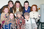 .NOVELITY: The Novelity Act from Ballymacelligott who were County Champions in the Scor Na Og at the week-end. L-r:Teresa Keane, Aileen Twomey, Cillian O'Rahilly, Aoife Brosnan, laura Daly, Marie Woulfe, Orla Keane and Aishlinn O'Brien..........   Copyright Kerry's Eye 2008