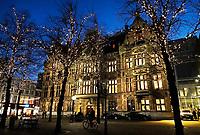 Nederland -  Den Haag  - 4 december 2017. Regeringsgebouw aan het Plein. Het vroegere Departement van Justitie. Berlinda van Dam / Hollandse Hoogte