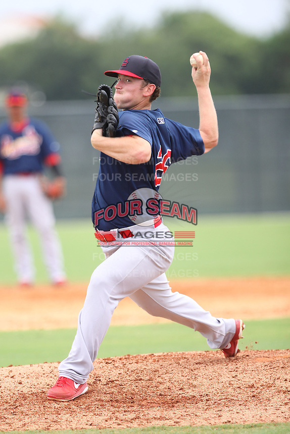 GCL Cardinals Davis Ward (26) throws a pitch during a game against the GCL Marlins on June 30th, 2014 at the Roger Dean Complex in Jupiter, Florida. GCL Cardinals defeated GCL Marlins 13-1. (Stacy Jo Grant/Four Seam Images)