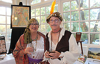 NWA Democrat-Gazette/CARIN SCHOPPMEYER Susan Osborne and Guy McCormick<br /> Eureka Springs School of the Arts Mad Hatter Ball<br /> Oct. 18, 2019