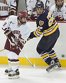 Nathan Gerbe, Nick Pomponio - Boston College defeated Merrimack College 3-0 with Tim Filangieri's first two collegiate goals on November 26, 2005 at Kelley Rink/Conte Forum in Chestnut Hill, MA.