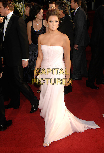 DREW BARRYMORE.Red Carpet Arrivals - 64th Annual Golden Globe Awards, Beverly Hills HIlton, Beverly Hills, California, USA, January 15th 2007..globes full length pale pink strapless dress.CAP/PL.©Phil Loftus/Capital Pictures
