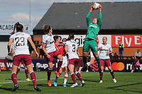 Courtney Brosnan of West Ham claims a cross during Arsenal Women vs West Ham United Women, Barclays FA Women's Super League Football at Meadow Park on 8th September 2019