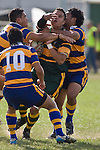 Daniel Crichton gets well * truly wrapped up by the Patumahoe defence. CMRFU Counties Power Premier Club Rugby game between Patumahoe & Pukekohe played at Patumahoe on April 12th, 2008..The halftime score was 10 all with Pukekohe going on to win 23 - 18.