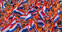 LYON,  - JULY 7: Fans cheer during a game between Netherlands and USWNT at Stade de Lyon on July 7, 2019 in Lyon, France.