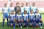 13 March 2008: Honduras starting eleven.  Front row (l to r): Marvin Sanchez (HON) (16), Rigoberto Padilla (HON) (7), Mario Martínez (HON) (15), Oscar Morales (HON) (21), David Alejandro Molina (HON) (3).  Back row (l to r): Hendry Thomas (HON) (20), Erick Norales (HON) (5), Kevin Hernandez (HON) (1), Jose Cesar Guity (HON) (18), Jefferson Bernardez (HON) (9), Quiarol Arzu (HON) (2). The Honduras U-23 Men's National Team defeated the Cuba U-23 Men's National Team 2-0 at Raymond James Stadium in Tampa, FL in a Group A game during the 2008 CONCACAF's Men's Olympic Qualifying Tournament.