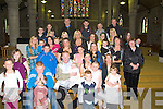 CHRISTENED: Baby Leah Bridget Coffey with her parents Breda and Jason Coffey after she was christened in St John's Church, Tralee on Sunday also in pic were family members of the parents and baby.... ....