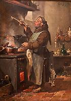 Europe/France/Aquitaine/24/Dordogne/Siorac-en-Périgord: Musée des Arts Culinaires du Château de Siorac  - Moine  à la Cuisine par Louis Guy 1887
