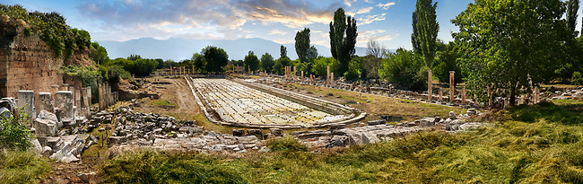 South Agora pool excavation, a public park,  Aphrodisias Archaeological Site, Aydin Province, Turkey.