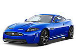 Front three quarter view of a 2012 Jaguar XKR-S Coupe.
