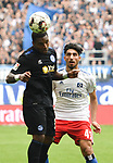 19.05.2019,  GER; 2. FBL, Hamburger SV vs MSV Duisburg ,DFL REGULATIONS PROHIBIT ANY USE OF PHOTOGRAPHS AS IMAGE SEQUENCES AND/OR QUASI-VIDEO, im Bild Berkay Oezcan (Özcan Hamburg #41) vesucht sich gegen Joseph-Claude Gyau (Duisburg #36) durchzusetzen Foto © nordphoto / Witke *** Local Caption ***
