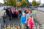 Listowel has been crowned Ireland's Tidiest Small Town. Pictured Kieran Moloney,Chairperson of the Listowel Tidy Towns, Jimmy Moloney,Mayor of the Listowel Municipal District and Mary Hanlon,Secretary and Inaugural member and Members of Listowel Tidy Towns celebrate on Tuesday
