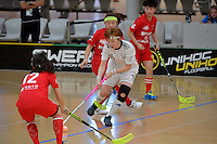 Korea&rsquo;s Yejin Shim in action during the World Floorball Championships 2017 Qualification for Asia Oceania Region - Korea v China at ASB Sports Centre , Wellington, New Zealand on Saturday 4 February 2017.<br /> Photo by Masanori Udagawa<br /> www.photowellington.photoshelter.com.