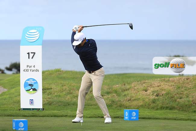 Rafa Cabrera Bello (ESP) in action at Monterey Peninsula Country Club during the third round of the AT&amp;T Pro-Am, Pebble Beach Golf Links, Monterey, USA. 09/02/2019<br /> Picture: Golffile | Phil Inglis<br /> <br /> <br /> All photo usage must carry mandatory copyright credit (&copy; Golffile | Phil Inglis)