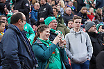 17.03.2019, BayArena, Leverkusen, GER, 1. FBL, Bayer 04 Leverkusen vs. SV Werder Bremen,<br />  <br /> DFL regulations prohibit any use of photographs as image sequences and/or quasi-video<br /> <br /> im Bild / picture shows: <br /> Fans, freundlich, Stimmung, farbenfroh, Nationalfarbe, geschminkt, Emotionen, bremer<br /> <br /> Foto © nordphoto / Meuter
