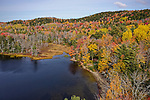 Aerial view of Knights Pond, Maine