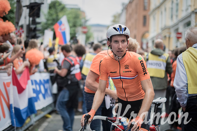 Bauke Mollema (NED/Trek-Segafredo) post-finish<br /> <br /> Men Elite Road Race<br /> <br /> UCI 2017 Road World Championships - Bergen/Norway