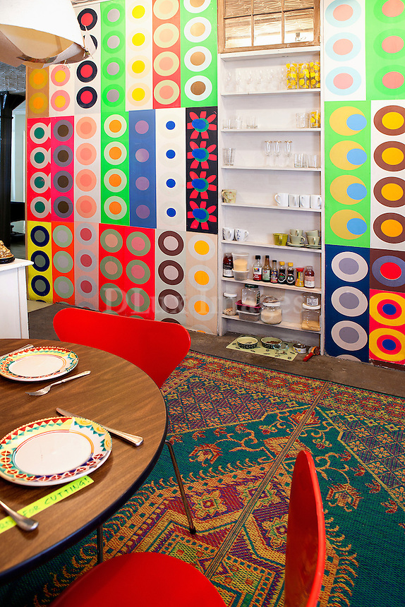 colorful cupboards