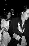 Patti Davis with her boyfriend/actor Peter Strauss.Attending a Broadway Show in.New York City..( avoiding press photographers ).September 1982.
