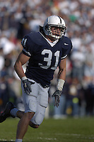 29 October 2005:  Penn State LB Paul Posluszny (31)..The Penn State Nittany Lions defeated the Purdue Boilermakers 33-15 October 29, 2005 at Beaver Stadium in State College, PA..