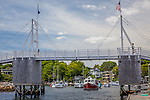 Perkins Cove footbridge in Ogunquit, ME