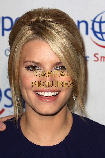 """JESSICA SIMPSON.25th Annual """"Operation Smile"""" Benefit Gala held at the Beverly Hills Hotel, Beverly Hills, California, USA,.05 October 2007..portrait headshot smiling.CAP/ADM/CH.©Charles Harris/Admedia/Capital Pictures"""