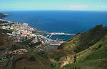 Santa Cruz de la Palma, capital of La Palma and the harbour, Canary Islands, Spain.