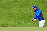 Celine Boutier (EUR) on the 1st during Day 3 Singles at the Solheim Cup 2019, Gleneagles Golf CLub, Auchterarder, Perthshire, Scotland. 15/09/2019.<br /> Picture Thos Caffrey / Golffile.ie<br /> <br /> All photo usage must carry mandatory copyright credit (© Golffile | Thos Caffrey)
