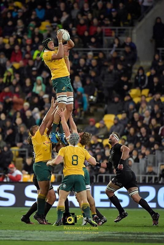 All Blacks v Wallabies. The Rugby Championship &amp; Bledisloe Cup at Westpac Stadium, Wellington, New Zealand on Saturday 27 August 2016.<br /> Photo by Masanori Udagawa. <br /> www.photowellington.photoshelter.com.