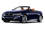 Stock pictures of low aggressive front three quarter view of a 2018 BMW M4 Base 2 Door Convertible
