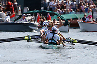 Race: 17 - Event: GRAND - Berks: 1 LEANDER CLUB & NEWCASTLE UNIVERSITY - Bucks: 2 PASSAU & TREVIRIS TRIER, GER<br /> <br /> Henley Royal Regatta 2017<br /> <br /> To purchase this photo, or to see pricing information for Prints and Downloads, click the blue 'Add to Cart' button at the top-right of the page.