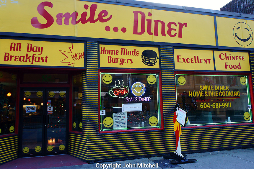 Smile Diner in downtown Vancouver, BC, Canada