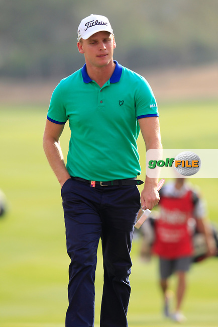 Morten Orum Madsen (DEN) on the 17th green during Sunday's Final Round of the Abu Dhabi HSBC Golf Championship 2015 held at the Abu Dhabi Golf Course, United Arab Emirates. 18th January 2015.<br /> Picture: Eoin Clarke www.golffile.ie