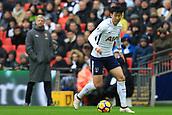 10th February 2018, Wembley Stadium, London England; EPL Premier League football, Tottenham Hotspur versus Arsenal; Son Heung-Min of Tottenham Hotspur