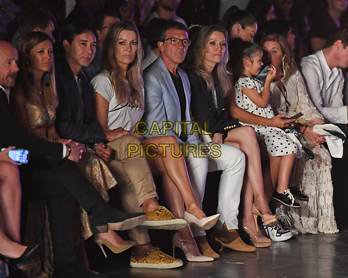 MIAMI, FL - JUNE 01: Rene Ruiz, Barbara Kempel, Antonio Banderas and Nicole Kimpel are seen at the Glory Ang Runway Show during Miami Fashion Week at the Ice Palace Studios on June 1, 2019 in Miami Florida. <br /> CAP/MPI04<br /> ©MPI04/Capital Pictures
