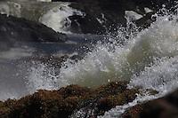 Rio Erepecuru; na bacia do rio Trombetas, transportando moradores e produtos para os territórios quilombolas e indígenas. Bacia do Trombetas. Oriximiná, Pará, Brasil.<br /> Foto Paulo Santos <br /> 24/09/2016
