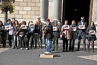 An unidentified man plays a guitar with the words &quot;Freedom for Catalunya&quot; written on it, on the street in front of the Palau de la Generalitat de Catalunya as he and others advocate for Catalonian independence from Spain on Tuesday, November 7, 2017. The building is a historic palace in Barcelona, Catalonia, that houses the offices of the Presidency of the Generalitat de Catalunya Barcelona. <br /> Credit: Ron Sachs / CNP /MediaPunch