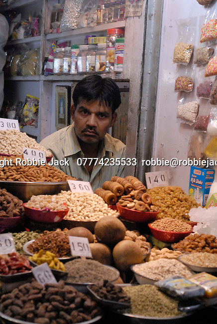 Vendor in Old Delhi, India.