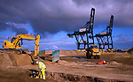 Great Yarmouth Outer Harbour construction project, November 2009, Norfolk, England