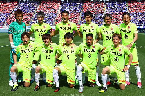Urawa Reds team group line-up(Reds), <br /> APRIL 16, 2017 - Football / Soccer : <br /> 2017 J1 League match between F.C. Tokyo 0-1 Urawa Reds <br /> at Ajinomoto Stadium, Tokyo, Japan. <br /> (Photo by AFLO SPORT)