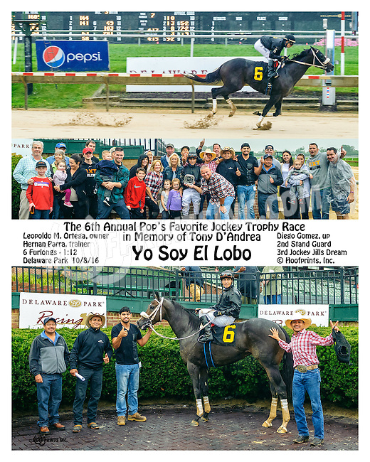 Yo Soy El Lobo winning at Delaware Park on 10/8/16