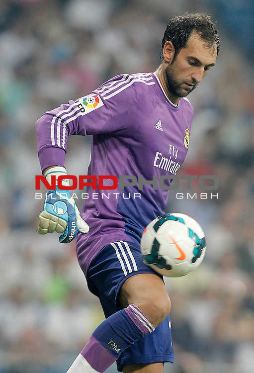 Real Madrid's Diego Lopez during La Liga match.August 18,2013. Foto © nph / Acero)