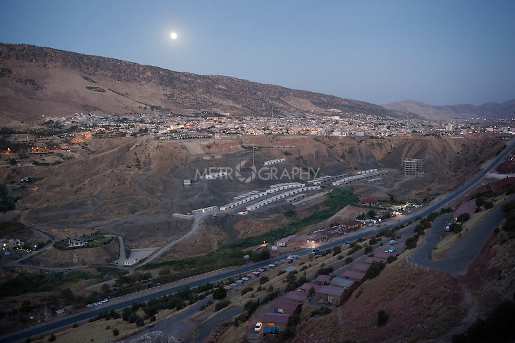 30/08/15. Shaqlawa, Iraq. -- A view of Sarmeidan area, Shaqlawa from Sorek mountain.