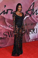 Naomie Campbell<br /> at the Fashion Awards 2016, Royal Albert Hall, London.<br /> <br /> <br /> &copy;Ash Knotek  D3210  05/12/2016