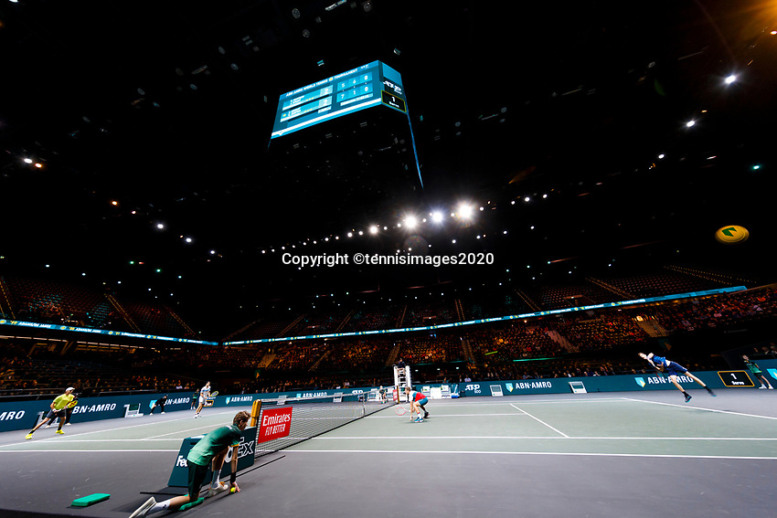 Rotterdam, The Netherlands, 14 Februari 2020, ABNAMRO World Tennis Tournament, Ahoy, Doubles: Henri Kontinen (FIN) and Jan-Lennard Struff (GER), Jamie Murray (GBR) and Neal Skupski (GBR).<br /> Photo: www.tennisimages.com