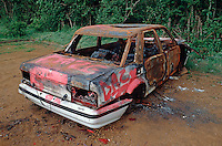 Stolen vehicle used for joyriding that was then set alight and was totally burnt out..©shoutpictures.com..john@shoutpictures.com