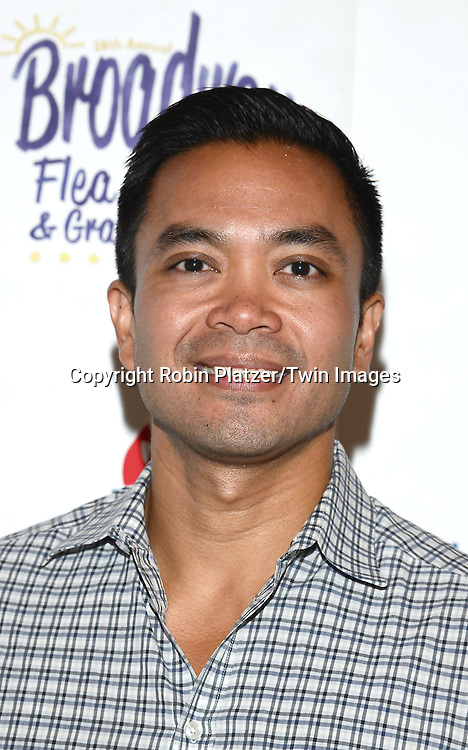 Jose Llana attends the 28th Annual  Broadway Cares/ Equity Fights Aids Flea Market and Auction on September 21,2014 in Shubert Alley in New York City. <br /> <br /> photo by Robin Platzer/Twin Images<br />  <br /> phone number 212-935-0770