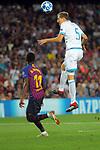 UEFA Champions League 2018/2019 - Matchday 1.<br /> FC Barcelona vs PSV Eindhoven: 4-0.<br /> Ousmane Dembele vs Daniel Schwaab.