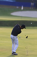 Paul Casey (ENG) plays his 3rd shot on the 18th hole during Saturday's Round 3 of the Porsche European Open 2018 held at Green Eagle Golf Courses, Hamburg Germany. 28th July 2018.<br /> Picture: Eoin Clarke | Golffile<br /> <br /> <br /> All photos usage must carry mandatory copyright credit (&copy; Golffile | Eoin Clarke)